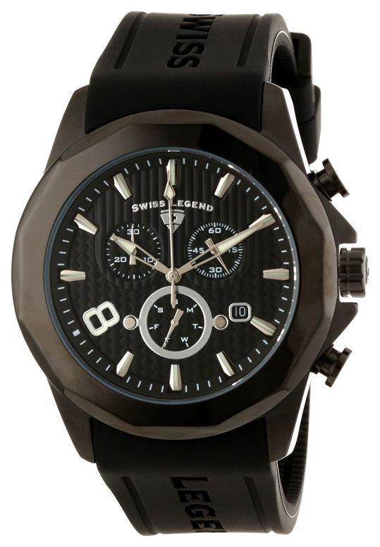 スイスレジェンド Swiss Legend 男性用 腕時計 メンズ ウォッチ クロノグラフ ブラック 10042-BB-01 送料無料 【並行輸入品】