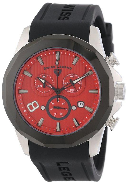 スイスレジェンド Swiss Legend 男性用 腕時計 メンズ ウォッチ クロノグラフ レッド 10042-05-BB 送料無料 【並行輸入品】