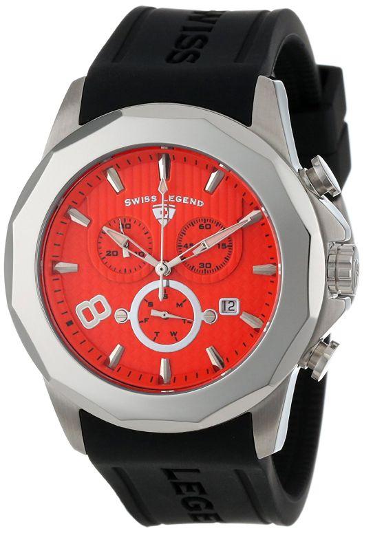 スイスレジェンド Swiss Legend 男性用 腕時計 メンズ ウォッチ クロノグラフ オレンジ 10042-06 送料無料 【並行輸入品】