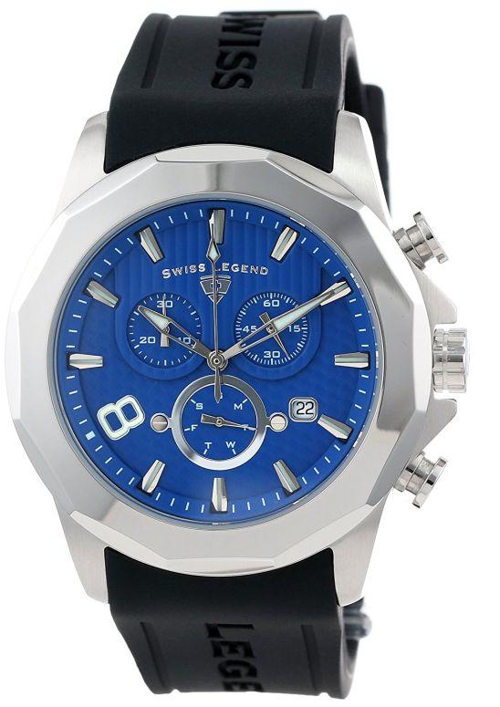 スイスレジェンド Swiss Legend 男性用 腕時計 メンズ ウォッチ クロノグラフ ブルー 10042-03 送料無料 【並行輸入品】