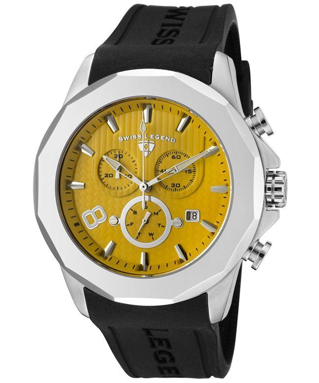 スイスレジェンド Swiss Legend 男性用 腕時計 メンズ ウォッチ イエロー SL-10042-07 送料無料 【並行輸入品】