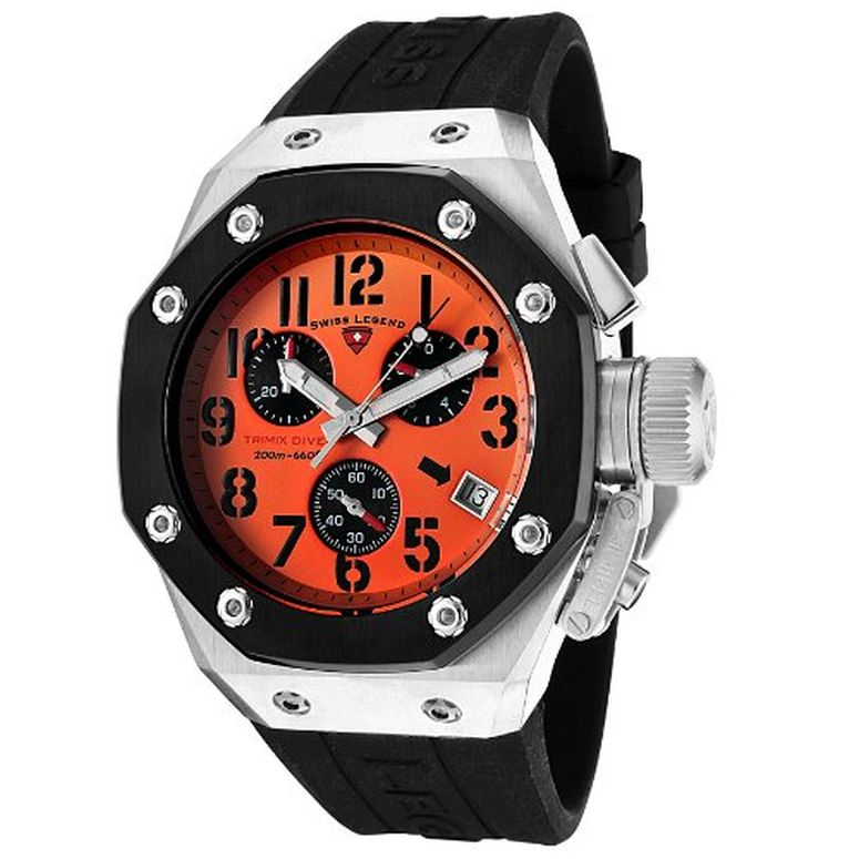 スイスレジェンド Swiss Legend 男性用 腕時計 メンズ ウォッチ クロノグラフ オレンジ 10541-06-BB 送料無料 【並行輸入品】