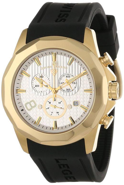スイスレジェンド Swiss Legend 男女兼用 腕時計 ユニセックス ウォッチ クロノグラフ シルバー 10042-YG-02S 送料無料