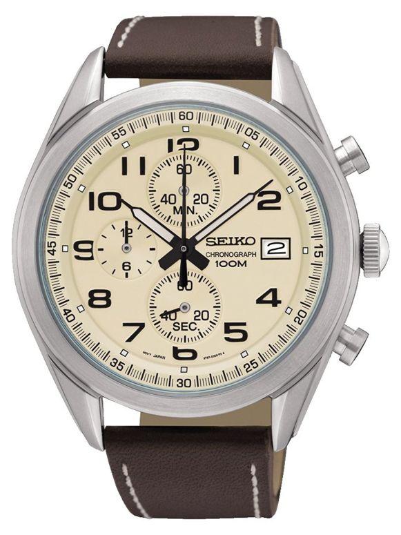 セイコー SEIKO 男性用 腕時計 メンズ ウォッチ クロノグラフ ベージュ SSB273P1 送料無料 【並行輸入品】