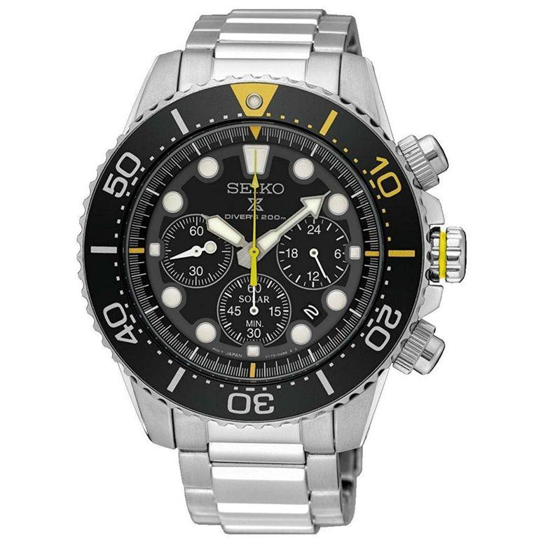 セイコー SEIKO 男性用 腕時計 メンズ ウォッチ クロノグラフ ブラック SSC613P1 送料無料 【並行輸入品】