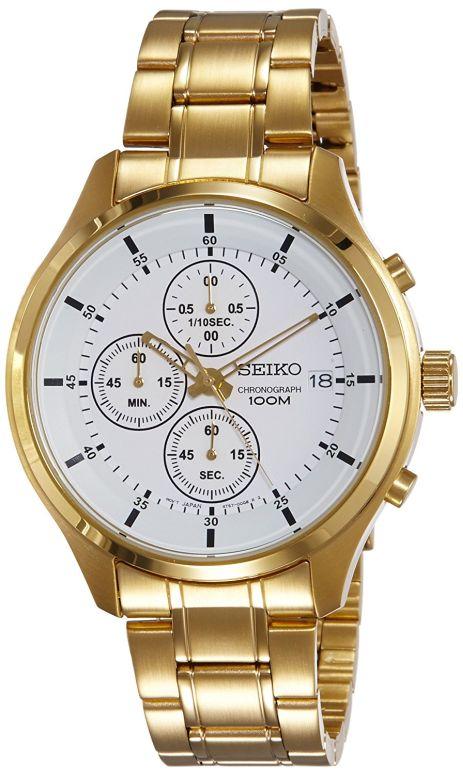 セイコー SEIKO 男性用 腕時計 メンズ ウォッチ クロノグラフ ゴールド SKS544P1 送料無料 【並行輸入品】