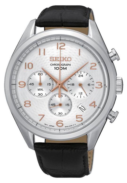 セイコー SEIKO 男性用 腕時計 メンズ ウォッチ クロノグラフ シルバー SSB227P1 送料無料 【並行輸入品】