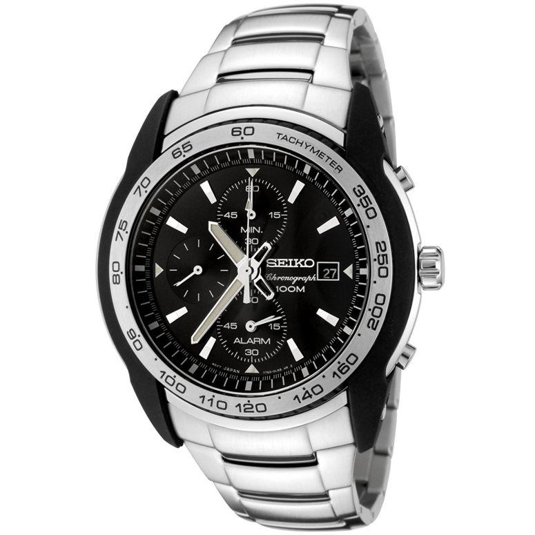 セイコー SEIKO 男性用 腕時計 メンズ ウォッチ クロノグラフ ブラック SNAB95 送料無料 【並行輸入品】