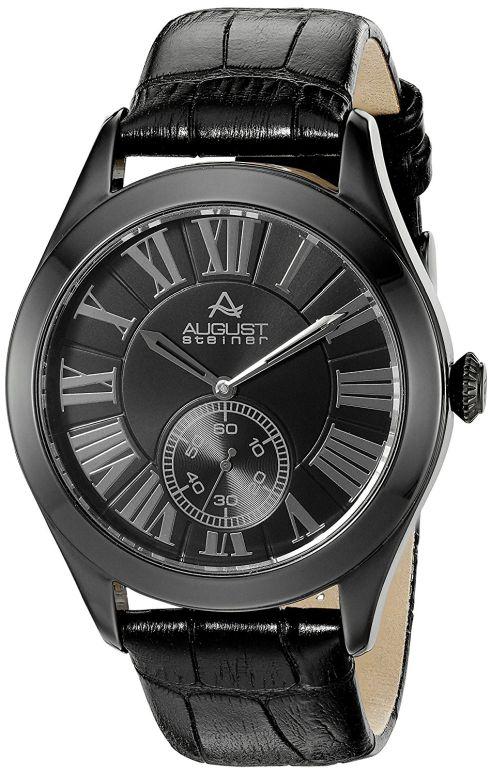 オーガストシュタイナ August Steiner 男性用 腕時計 メンズ ウォッチ ブラック AS8203BK 送料無料 【並行輸入品】