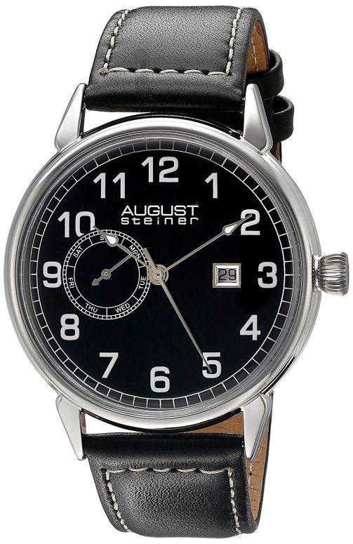 オーガストシュタイナ August Steiner 男性用 腕時計 メンズ ウォッチ ブラック AS8182SSB 送料無料 【並行輸入品】