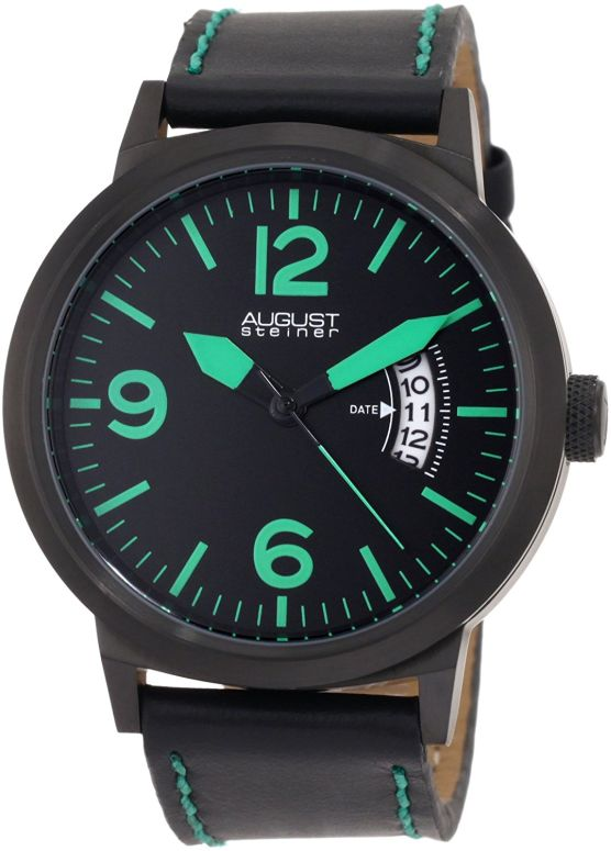 オーガストシュタイナ August Steiner 男性用 腕時計 メンズ ウォッチ ブラック ASA812GN 送料無料 【並行輸入品】