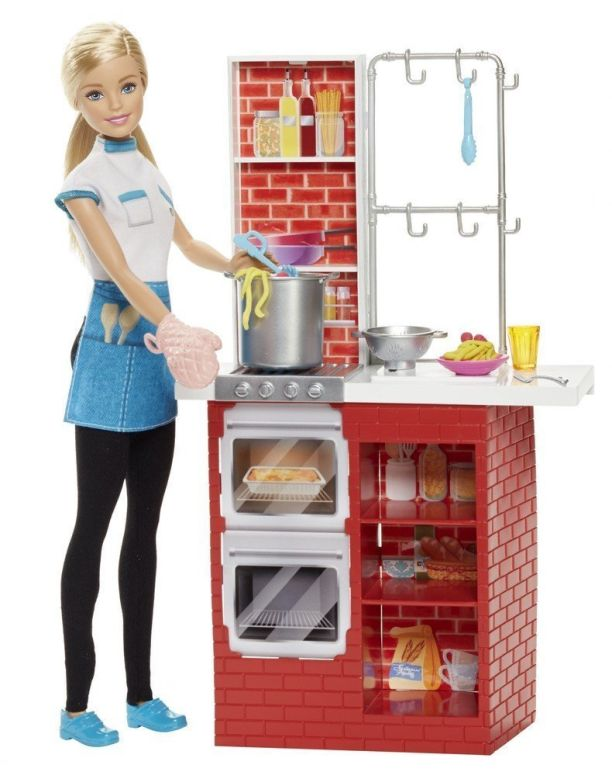 Barbie バービー Spaghetti Chef doll 人形 プレイセット おもちゃ 送料無料 【並行輸入品】
