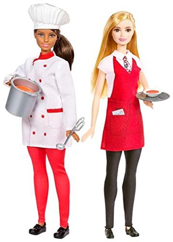 <title>バービー人形 海外 バービー コレクター バービードール アメリカ 日時指定 Barbie Friend Careers Chef Waiter doll 人形 Set 送料無料 並行輸入品</title>