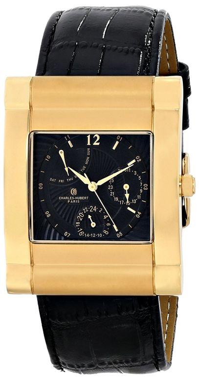 チャールズヒューバート Charles-Hubert, Paris 男性用 腕時計 メンズ ウォッチ ブラック 3950-G 送料無料 【並行輸入品】