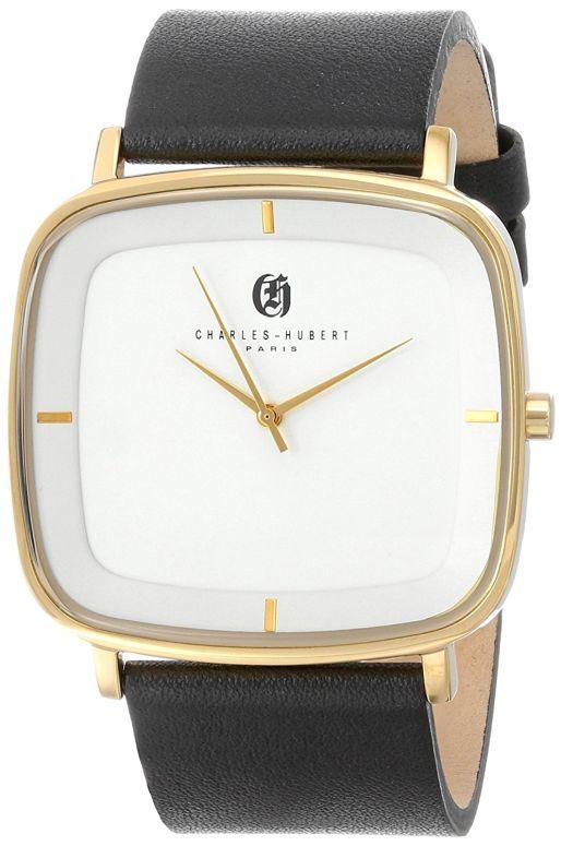 チャールズヒューバート Charles-Hubert, Paris 男性用 腕時計 メンズ ウォッチ ホワイト 3945-B 送料無料 【並行輸入品】