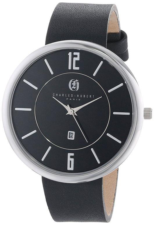 チャールズヒューバート Charles-Hubert, Paris 男性用 腕時計 メンズ ウォッチ ブラック 3944-B 送料無料 【並行輸入品】