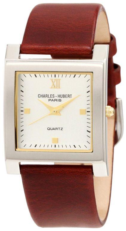 チャールズヒューバート Charles-Hubert, Paris 男性用 腕時計 メンズ ウォッチ ホワイト 3688-W 送料無料 【並行輸入品】