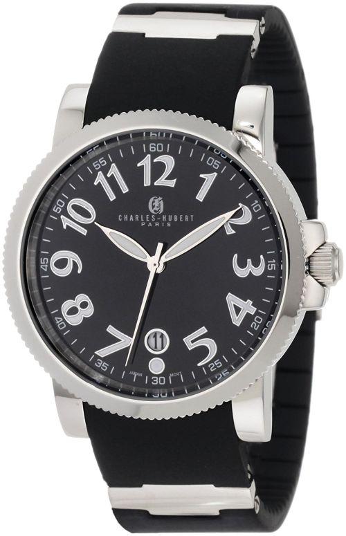 チャールズヒューバート Charles-Hubert, Paris 男性用 腕時計 メンズ ウォッチ ブラック 3892-W 送料無料 【並行輸入品】