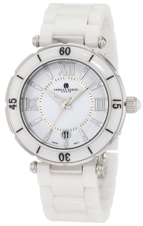 チャールズヒューバート Charles-Hubert, Paris 男性用 腕時計 メンズ ウォッチ ホワイト 3879-W 送料無料 【並行輸入品】