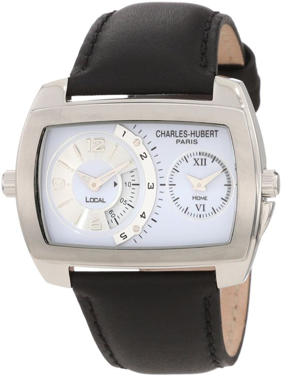チャールズヒューバート Charles-Hubert, Paris 男性用 腕時計 メンズ ウォッチ ホワイト 3743-W 送料無料 【並行輸入品】