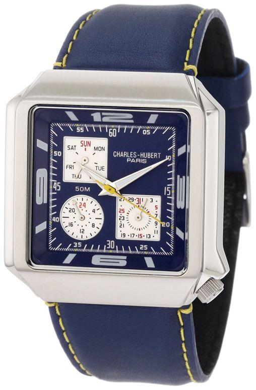 チャールズヒューバート Charles-Hubert, Paris 男性用 腕時計 メンズ ウォッチ ブルー 3742-E 送料無料 【並行輸入品】