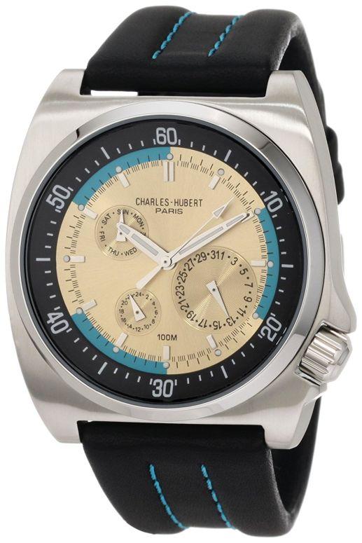 チャールズヒューバート Charles-Hubert, Paris 男性用 腕時計 メンズ ウォッチ イエロー 3744-M 送料無料 【並行輸入品】