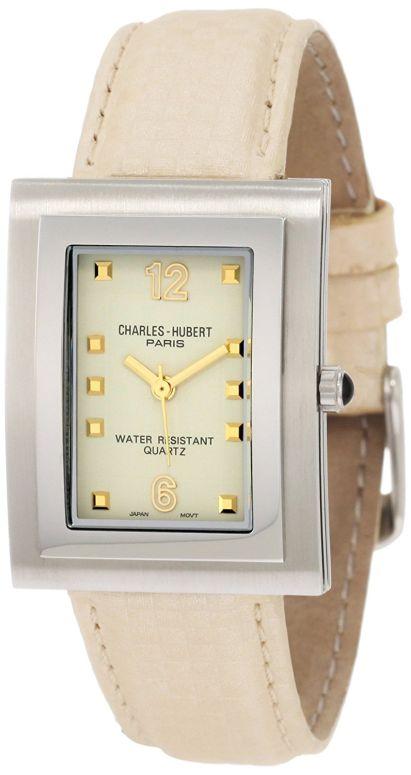 チャールズヒューバート Charles-Hubert, Paris 男性用 腕時計 メンズ ウォッチ ベージュ 3651-C 送料無料 【並行輸入品】