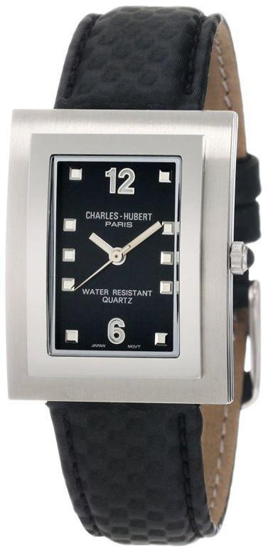 チャールズヒューバート Charles-Hubert, Paris 男性用 腕時計 メンズ ウォッチ ブラック 3651-B 送料無料 【並行輸入品】