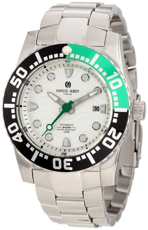 チャールズヒューバート Charles-Hubert, Paris 男性用 腕時計 メンズ ウォッチ シルバー 3778-WM 送料無料 【並行輸入品】