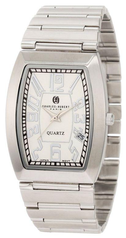 チャールズヒューバート Charles-Hubert, Paris 男性用 腕時計 メンズ ウォッチ ホワイト 3800 送料無料 【並行輸入品】