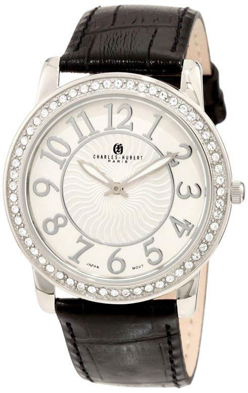 チャールズヒューバート Charles-Hubert, Paris 男性用 腕時計 メンズ ウォッチ ホワイト 3813-W 送料無料 【並行輸入品】