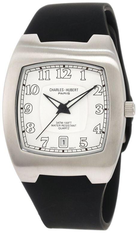 チャールズヒューバート Charles-Hubert, Paris 男性用 腕時計 メンズ ウォッチ ホワイト 3693-W 送料無料 【並行輸入品】