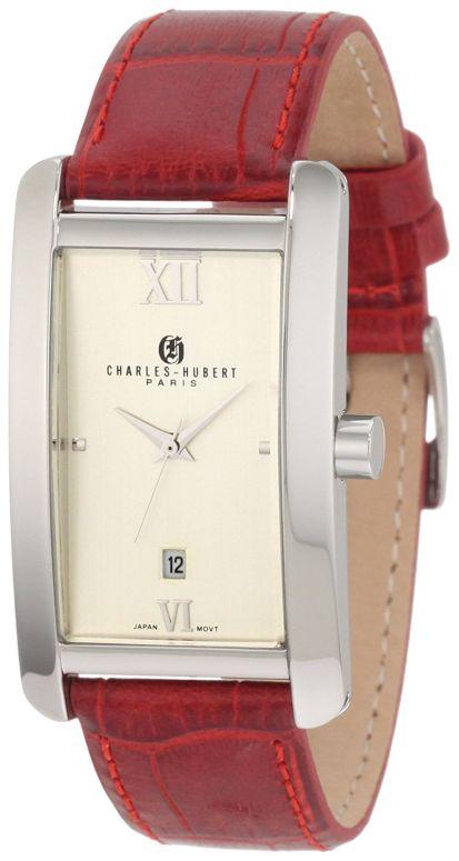 チャールズヒューバート Charles-Hubert, Paris 男性用 腕時計 メンズ ウォッチ ホワイト 3670-P 送料無料 【並行輸入品】