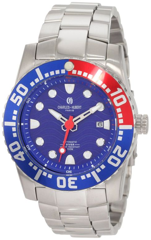 チャールズヒューバート Charles-Hubert, Paris 男性用 腕時計 メンズ ウォッチ ブルー 3778-EM 送料無料 【並行輸入品】