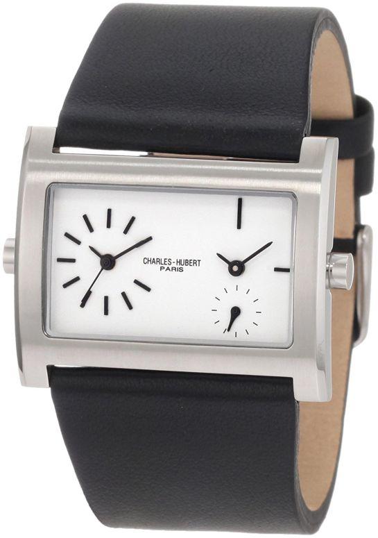 チャールズヒューバート Charles-Hubert, Paris 男性用 腕時計 メンズ ウォッチ ホワイト 3592-W 送料無料 【並行輸入品】