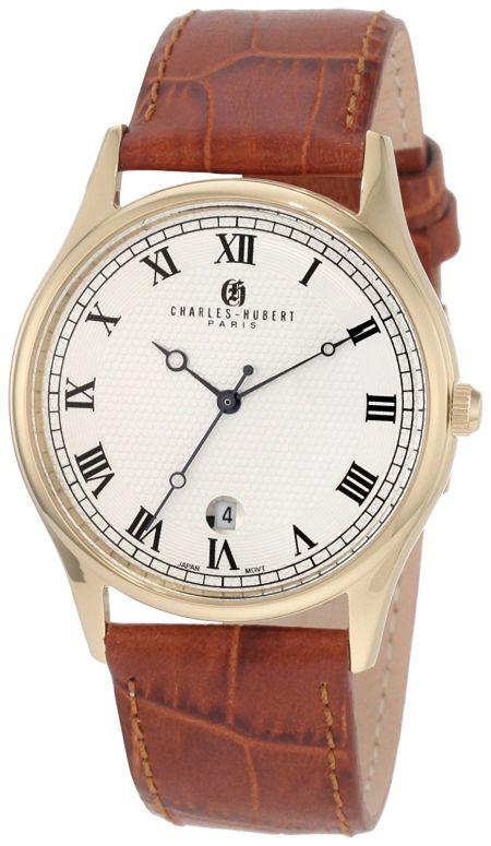 チャールズヒューバート Charles-Hubert, Paris 男性用 腕時計 メンズ ウォッチ ホワイト 3814-GW 送料無料 【並行輸入品】