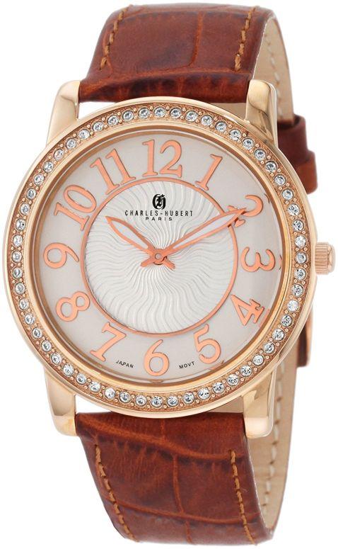 チャールズヒューバート Charles-Hubert, Paris 男性用 腕時計 メンズ ウォッチ クロノグラフ ホワイト 3813-RG 送料無料 【並行輸入品】