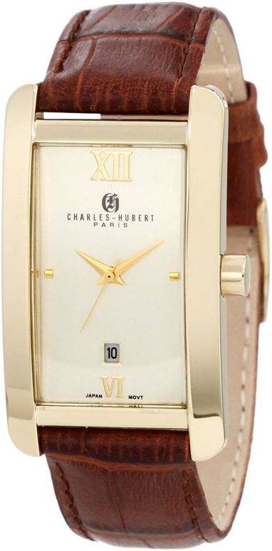 チャールズヒューバート Charles-Hubert, Paris 男性用 腕時計 メンズ ウォッチ イエロー 3670-G 送料無料 【並行輸入品】
