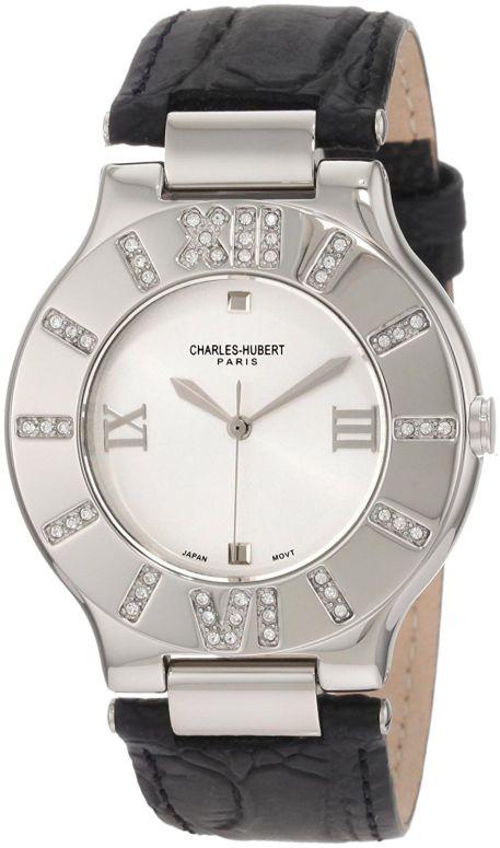 チャールズヒューバート Charles-Hubert, Paris 男性用 腕時計 メンズ ウォッチ ホワイト 3749-L 送料無料 【並行輸入品】