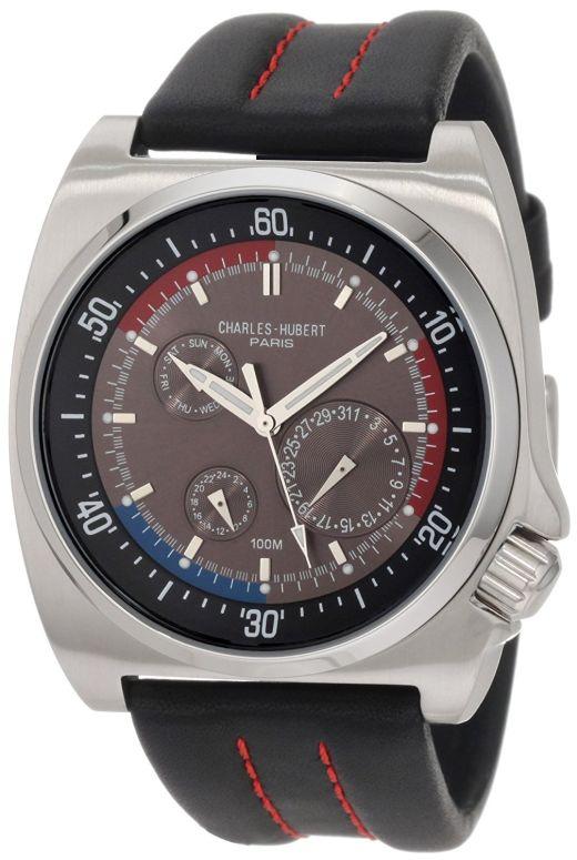 チャールズヒューバート Charles-Hubert, Paris 男性用 腕時計 メンズ ウォッチ ブラック 3744-B 送料無料 【並行輸入品】