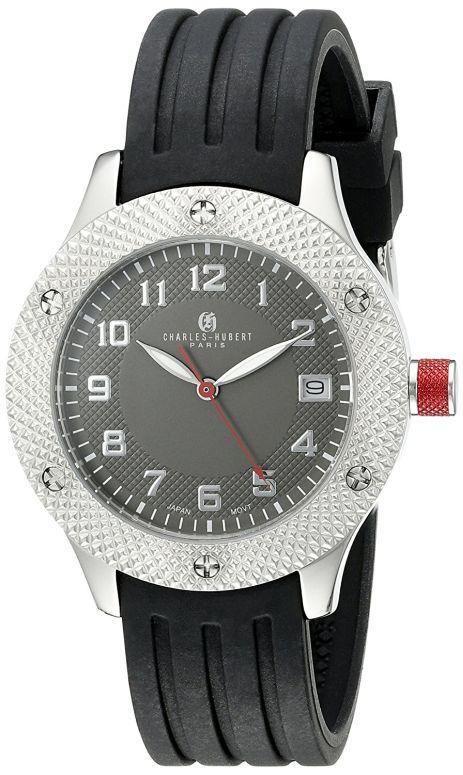 チャールズヒューバート Charles-Hubert, Paris 女性用 腕時計 レディース ウォッチ グレー 6979-C 送料無料 【並行輸入品】