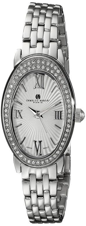 チャールズヒューバート Charles-Hubert, Paris 女性用 腕時計 レディース ウォッチ シルバー 6905-WM 送料無料 【並行輸入品】