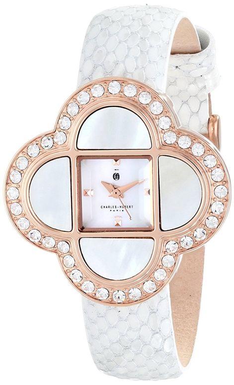 チャールズヒューバート Charles-Hubert, Paris 女性用 腕時計 レディース ウォッチ パール 6840-W 送料無料 【並行輸入品】