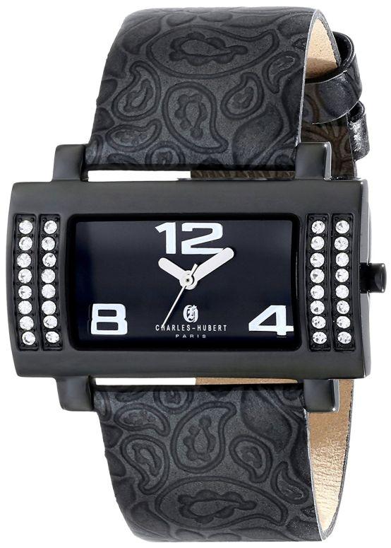 チャールズヒューバート Charles-Hubert, Paris 女性用 腕時計 レディース ウォッチ ブラック 6842-BB 送料無料 【並行輸入品】