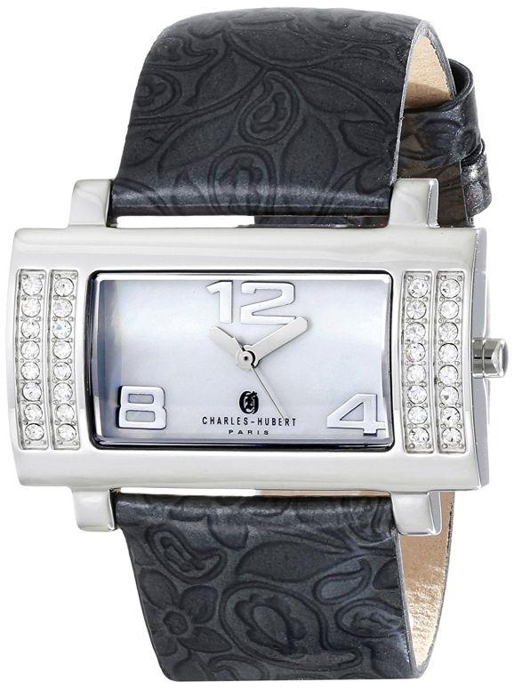 チャールズヒューバート Charles-Hubert, Paris 女性用 腕時計 レディース ウォッチ パール 6842-WB 送料無料 【並行輸入品】