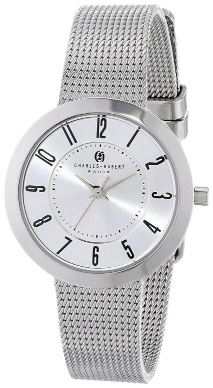 チャールズヒューバート Charles-Hubert, Paris 女性用 腕時計 レディース ウォッチ シルバー 6948-W 送料無料 【並行輸入品】
