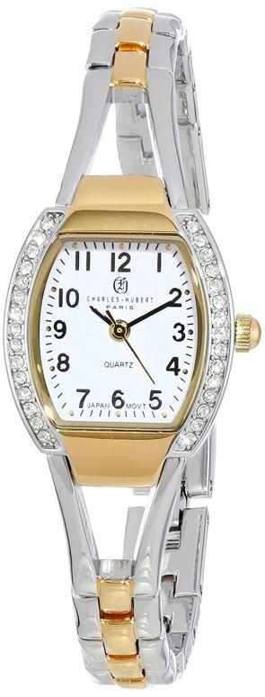 チャールズヒューバート Charles-Hubert, Paris 女性用 腕時計 レディース ウォッチ ホワイト 6831-T 送料無料 【並行輸入品】