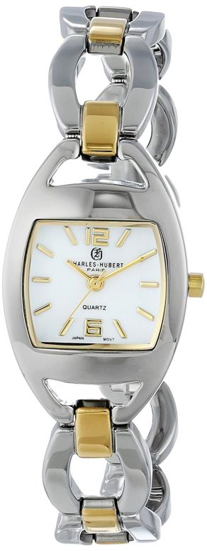 チャールズヒューバート Charles-Hubert, Paris 女性用 腕時計 レディース ウォッチ ホワイト 6827-T 送料無料 【並行輸入品】