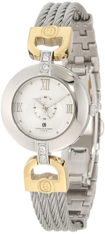 チャールズヒューバート Charles-Hubert, Paris 女性用 腕時計 レディース ウォッチ シルバー 6809-T 送料無料 【並行輸入品】
