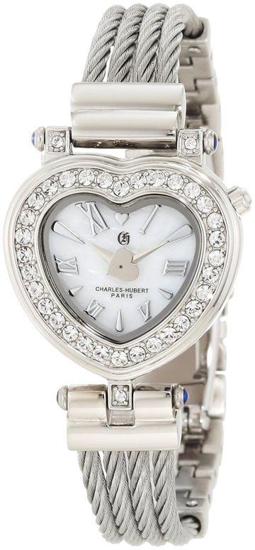 チャールズヒューバート Charles-Hubert, Paris 女性用 腕時計 レディース ウォッチ パール 6780-W 送料無料 【並行輸入品】